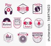 music and audio studio vector... | Shutterstock .eps vector #568974823