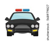 police car patrol icon image... | Shutterstock .eps vector #568979827