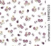 seamless delicate pattern of... | Shutterstock .eps vector #568985233
