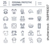 personal protective equipment... | Shutterstock .eps vector #568998307