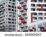 detail of house facade | Shutterstock . vector #569009347