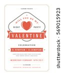 happy valentines day party... | Shutterstock .eps vector #569015923