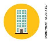 symbol apartment building line... | Shutterstock .eps vector #569016157