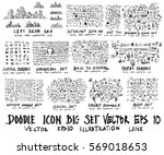 MEGA set of doodles. arrow ,business and finance, social media shopping element, city scape, sport, back to school | Shutterstock vector #569018653