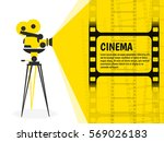 cinema festival poster or flyer ... | Shutterstock .eps vector #569026183