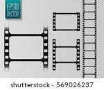 set of vector film strip... | Shutterstock .eps vector #569026237
