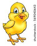 a cartoon easter chick yellow... | Shutterstock .eps vector #569040643