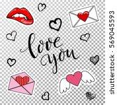 design elements for valentine's ...   Shutterstock .eps vector #569045593