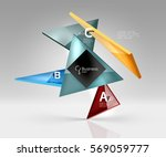 vector glass triangles... | Shutterstock .eps vector #569059777