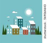 city vector illustration. | Shutterstock .eps vector #569064643