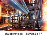 equipment  cables and piping as ... | Shutterstock . vector #569069677