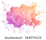 abstract purple watercolor on