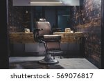 stylish vintage barber chair in ... | Shutterstock . vector #569076817