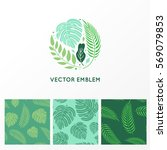 vector set of logo design... | Shutterstock .eps vector #569079853
