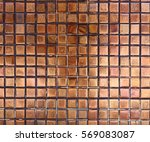 brown square wall tile pattern | Shutterstock . vector #569083087