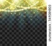 flying magical shiny sparklers... | Shutterstock .eps vector #569084803