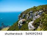 Small photo of Cliff edge of Mount Maunganui