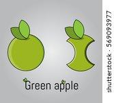 apples. green apples. vector...