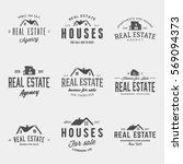 vector set of real estate... | Shutterstock .eps vector #569094373
