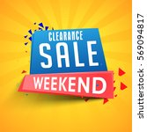clearance weekend sale paper... | Shutterstock .eps vector #569094817