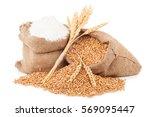 flour and wheat grain | Shutterstock . vector #569095447