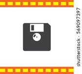 Diskette Vector Icon. Floppy...