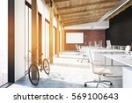office with brick  white and... | Shutterstock . vector #569100643