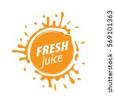 juice splash vector sign | Shutterstock .eps vector #569101363