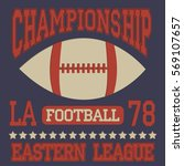 american football typography.... | Shutterstock .eps vector #569107657