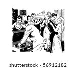 frat party   retro clip art