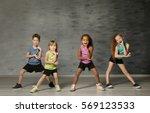 cute funny children in dance...