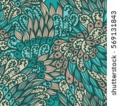 seamless floral pink and blue... | Shutterstock .eps vector #569131843