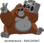 vector illustration of funny... | Shutterstock .eps vector #569134567