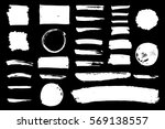 vector set of grungy hand drawn ... | Shutterstock .eps vector #569138557