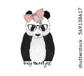 beary cute panda  animal... | Shutterstock .eps vector #569138617