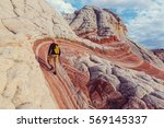 hike in the utah mountains | Shutterstock . vector #569145337
