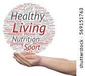 concept or conceptual healthy... | Shutterstock . vector #569151763