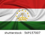 tajikistan flag with fabric... | Shutterstock . vector #569157007