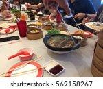 chinese yumcha dimsum and buk... | Shutterstock . vector #569158267