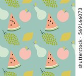 fruits pattern | Shutterstock .eps vector #569166073