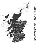 scotland map labelled black... | Shutterstock .eps vector #569180893