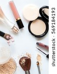crushed decorative cosmetics... | Shutterstock . vector #569184193