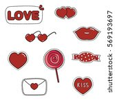 valentine sticker vector | Shutterstock .eps vector #569193697