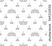 mardi gras seamless pattern... | Shutterstock .eps vector #569210533