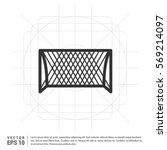 soccer goal icon | Shutterstock .eps vector #569214097