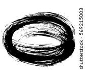 grunge vector frame. hand drawn ... | Shutterstock .eps vector #569215003