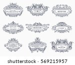 collection of vintage patterns. ... | Shutterstock .eps vector #569215957