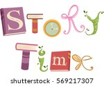 whimsical typography... | Shutterstock .eps vector #569217307