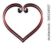 hand drawn hearts decorative... | Shutterstock .eps vector #569218537