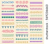 collection of hand drawn... | Shutterstock .eps vector #569236663